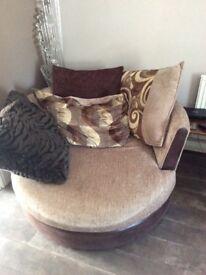 DFS corner suite & Cuddle swivel chair