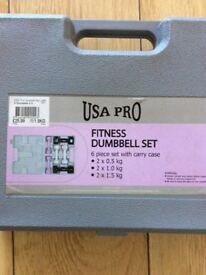 USA Pro Fitness Dumbbell Set