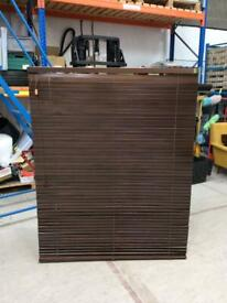 2 x John Lewis dark stain wooden blinds (fitted for previous owner) 100% profits go to SPH