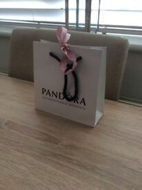 BRAND NEW PANDORA PEARL EARRINGS- NEVER BEEN OUT OF BOX!!