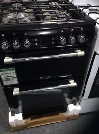 Leisure cookmaster black gas cooker new in box 12 mths gtee