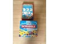 Children's scrabble puzzle and linking letters box