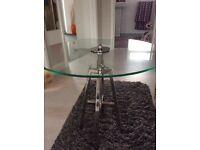 Contemporary design glass coffee table