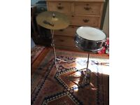 Snare Drum and Cymbal with Stands