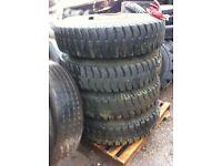 1200/20 truck tyres on wheel