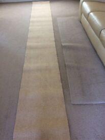 Carpet remnant, beige, unused