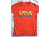 NEW Retro Womens/Ladies/Girls Marvel Comic Batman and Wonder Woman T Shirts