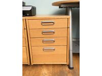 Small chest of office drawers