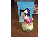 Schmid Beatrix Potter Jemima Puddle Duck Musical Figurine