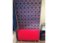 Single 3ft Divan base +mattress leather headboard