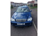 Mercedes C Class for sale excellent condition, long MOT, four new tyres, fitted with bluetooth