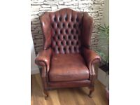 Chesterfield vintage leather armchair
