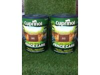 -- GOOD QUALITY FENCE / SHED / WOOD / TIMBER PAINT TREATMENT- TWO 5 LITER -- CAN DROP OFF IF NEEDED-