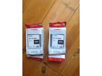2 new canon ink cartridges for ipf 670,680,685,770,780 and 785 in black 130ml
