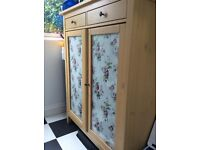Linen cabinet with glass doors from IKEA