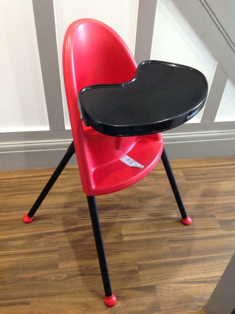 Pre Owned Baby Bjorn High Chair Black Red In Sutton Coldfield