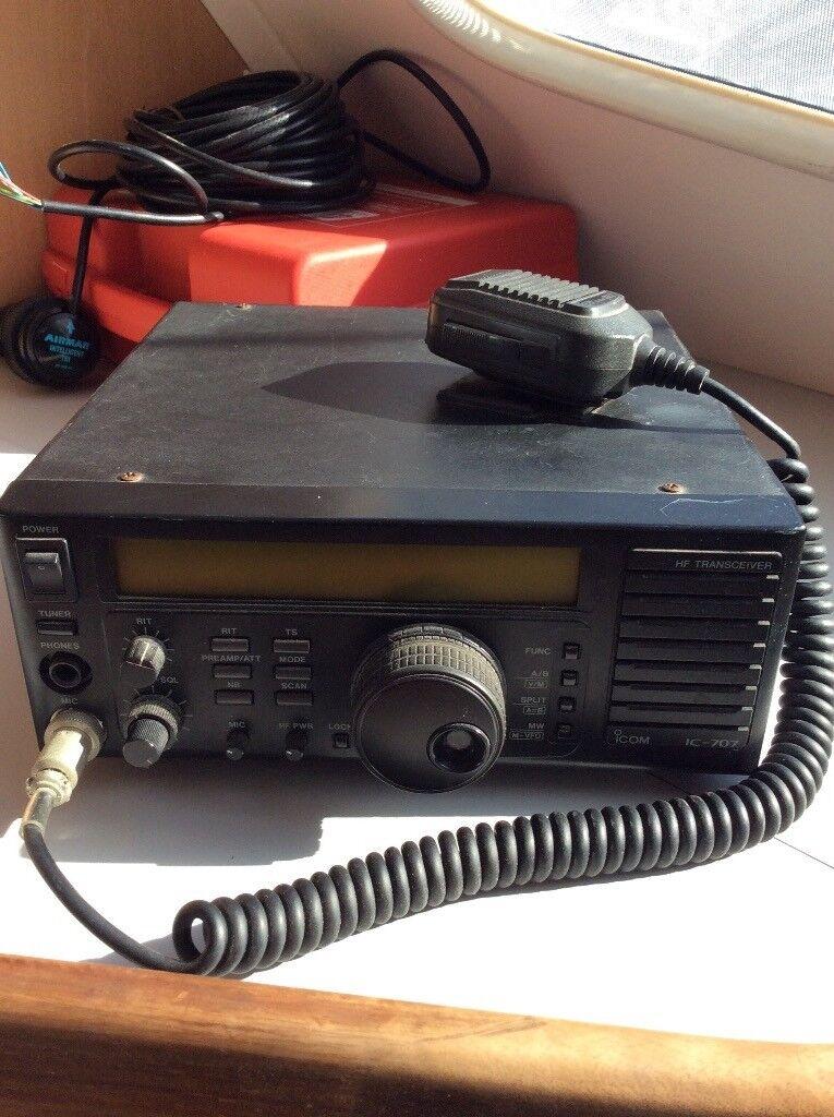 Icom IC 707 HF Amateur Radio Transceiver