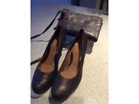 Clarke Women Shoes and matching evening bag