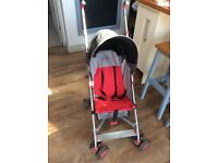 Red, Black & Silver Mothercare Pushchair