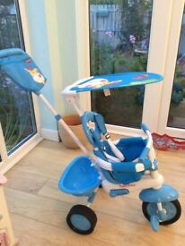 FISHERPRICE STROLL -TO -RIDE TRIKE -BLUE - IMMACULATE CONDITION