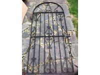 Complete garden metal door black with hinges