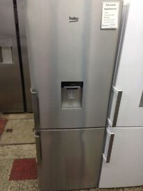 Beko stainless steel fridge freezer with water dispenser £259 new/graded 12 month Gtee