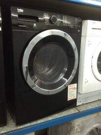 Beko black freestanding 8/5 washer dryer. £349. New/graded. 12 month Gtee