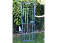 Heavy duty galvanised steel gate,