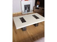 Marble coffee table and marble console table