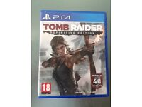 Tomb Raider Games for play station 4 in Perfect working order and good condition