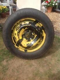 Spacesaver tyre on rim
