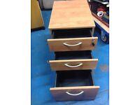 Set of drawers for under office desk