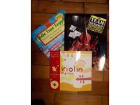 Beginner Violin books. Fiddle time joggers, team strings, abracadabra