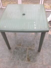 Outdoor Plastic Table and Kids/Side Table - FREE