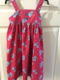Girls summer dress, Bluezoo, age 3-4 years, worn once