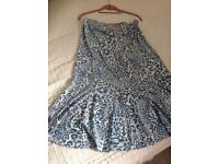 Kim&Co light blue animal print top&skirt set
