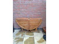 Garden drop leaf table, solid wood