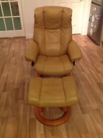 Stressless chair and stool vgc Mayfair