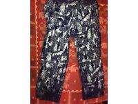 Casual or ski winter trousers LRG hardy blechman futura maharishi clothing reflective cordura fu300