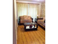 Free sofa - 2 seater and 3 seater cream with wooden sides
