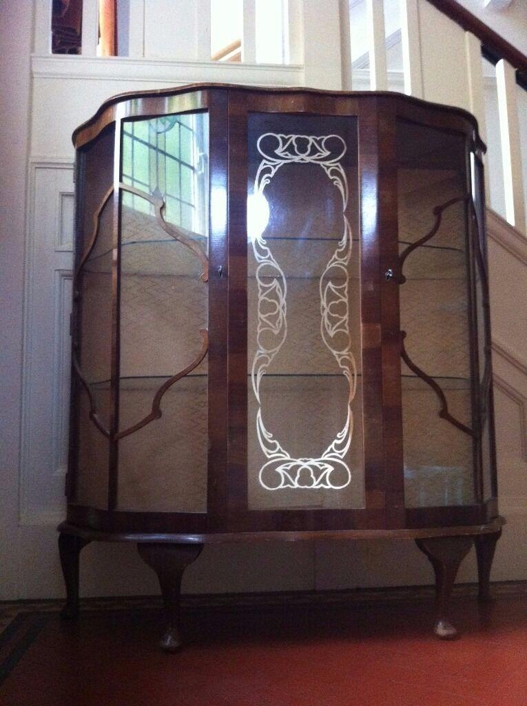 Vintage Antique Glass Display Cabinet Genuine RIVINGTON London / Can Deliver - Vintage Antique Glass Display Cabinet Genuine RIVINGTON London / Can