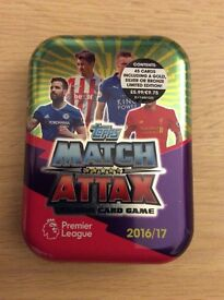 Match Attax 2016-17 EPL - Collectors Tin, Cards are NEW and packet is UNOPENED 2016/17