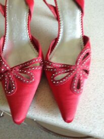 Ladies party shoes with matching handbag