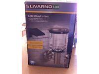 LED solar light stainless steel NEW BOXED
