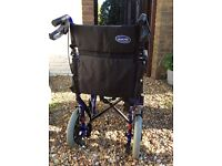 Wheelchair alu lite, in blue