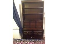 Ercol dark wood dresser ideal for Annie Sloan shabby chicing or lovely as is for a traditional look