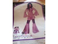 ABBA DISCO FEVER FANCY DRESS OUTFIT SIZE 10/12 great for party or hen do