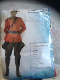 Fancy dress party Canadian Mountie mountain police costume outfit