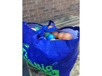 Tesco bag filled with plastic balls £4