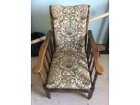 1950's Wooden Upholstered Chair